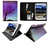 Sweet Tech LeaningTech QT-10 10.1 Inch 3G Tablet Night Sky Universal Wallet Case Cover Folio (10-11 inch)