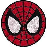 "SPIDERMAN Application Aplicación Mask PATCH,PARCHE Officially Oficialmente Licensed Autorizado Marvel Comics Superhero Artwork,ilustraciones Iron-On / Sew-On, 2.8"" x 3"" Embroidered bordado PATCH PARCHE"