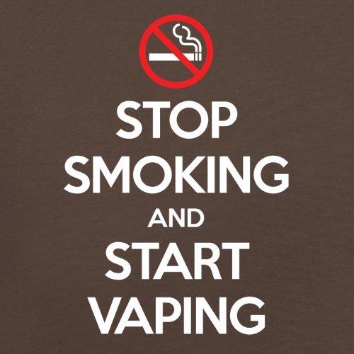 Stop Smoke Start Vaping - Herren T-Shirt - 13 Farben Schokobraun