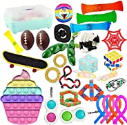 Fidget Toys Set, Relieves Stress and Anxiety Fidget Toy for Children Adults, Special Toys Assortment for Birth