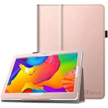 Fintie Funda para BEISTA K107 Tablet de 10.1 Pulgadas / YUNTAB K107 Tablet 10.1 - Slim Fit Folio Funda Carcasa Case con Stand Función para BEISTA Tablet de 10.1 Pulgadas, YUNTAB K107 Tablet 10.1, Artizlee ATL-21plus / ATL-21T / ATL-21X / ATL-31, ibowin P130 / M130 10.1 inch, Lnmbbs 3G/WIFI Tablet 10, XIDO Z120, Excelvan K107 10.1 Inch, Sky Castle 10.1, Oro Rosa