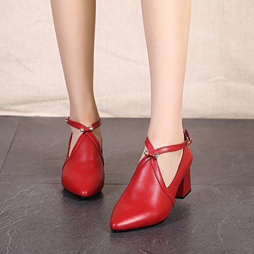 Wuyulunbi @ Latin Danse Chaussures À Talons Hauts Chaussures Souples Gules Bas Chaussures