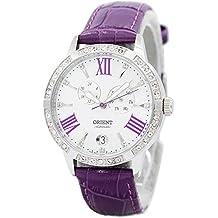 Orient Reloj Analógico para Mujer de Automático con Correa en Cuero FET0Y004W0