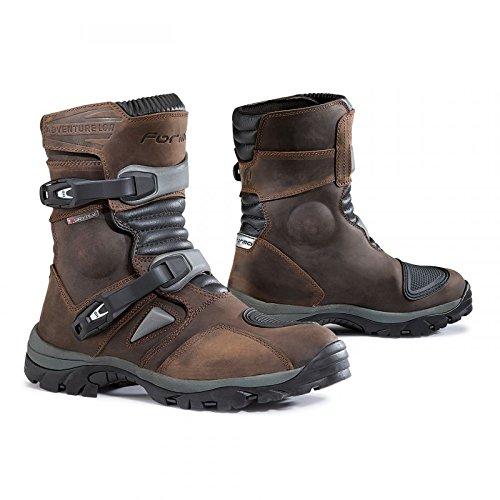 Forma Adventure basso impermeabile breve stivali da moto marrone, uomo Donna, Brow