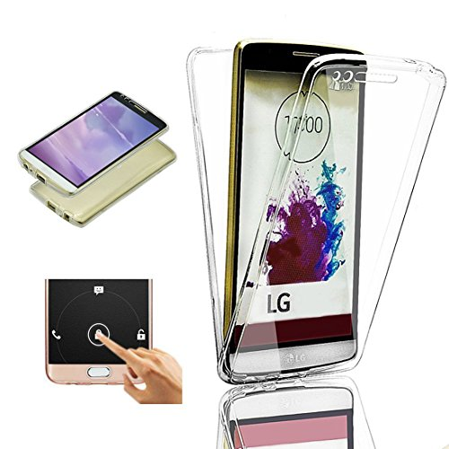 2ndSpring LG G5 Hülle Case komplette Schale Ultra Slim Full Body 360 °TPU Silikon Cover LG G5 Handy Tasche Schutz Etui Bumper Front Back doppelseitig,Klar