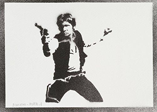 Han Solo STAR WARS Hecho A Mano - Handmade Street Art Poster