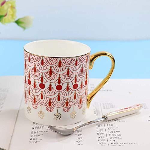 Dong Kreative Persönlichkeit Keramik Tasse, Becher Einfache Kaffeetasse Wasserbecher Weinlese-Getreidemilchfrühstücksschale