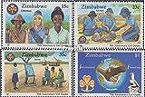 Simbabwe 364-367 (kompl.Ausg.) 1987 Pfadfinderinnen in Simbabwe (Briefmarken für Sammler) Rotary/Lions/Freim./Pfadfinder