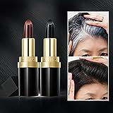 Einweg-Haarfärbemittel, Jiegreat Zauber Lippenstift Haarfarbe Stift Neue schnelle temporäre Haarfärbemittel um Weiß abzudecken (Schwarz)
