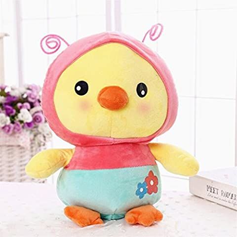 Edealing (TM) Creative Peluche Soft Stuffed Doll Cartoon Chick Magic Transfiguration Toy pour bébé Kids -Butterfly