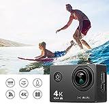 Auslese™ 16MP Ultra HD 4K Wi-Fi Anti-Shake Waterproof Sports Camera with high-Tech V3+ Sony 179 Sensor, 170° Wide-Angle Lens