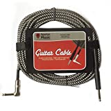 6 Meter / 20 Foot Long Guitar Right Angle Braided Guitar Cable