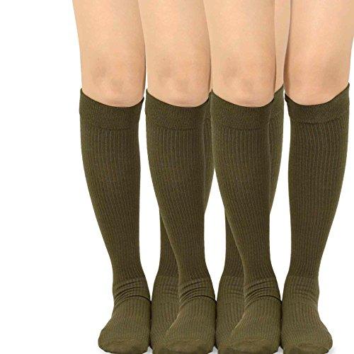 teehee in microfibra al ginocchio compressione calze-3paia Micro-11450-Brown 5-6 Anni