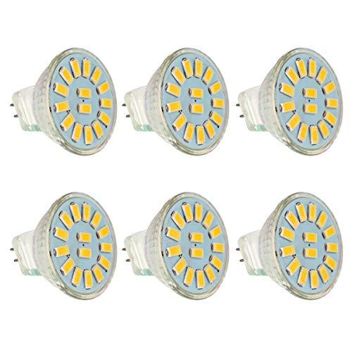 Preisvergleich Produktbild 6er MR11 / GU4 LED Spot Reflektor Reflektorlampe,  2.6W LED Lampe ersetzt 30W Glühlampen,  GreenSun LED Lighting 12V DC LED Strahler Birnen 240lm Warmweiß