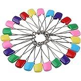 Bebé pines pañal Pins color gamuza de fijación de seguridad Pasadores niño infantil Kids pañal Pins, 50 Pcs