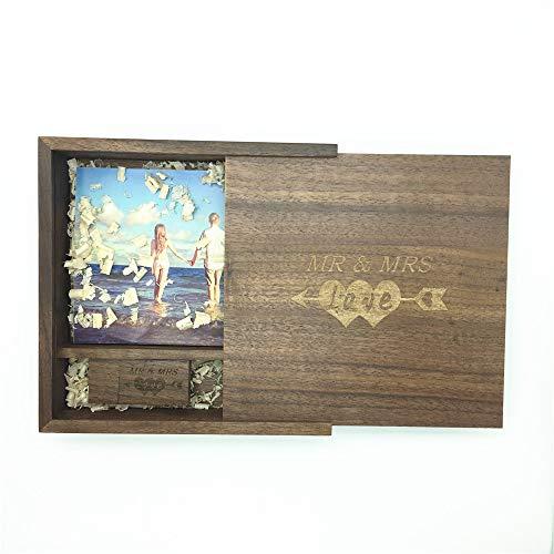 LXSINO 64 GB Holz USB Stick mit