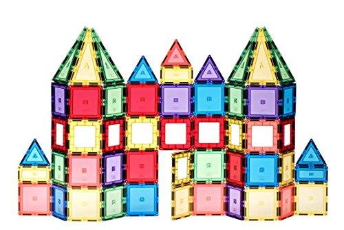City Tiles 100 Stück Super-Set: mit stärksten Magneten garantiert, robust, super langlebig mit klaren Farben Fliesen & Zubehör, um Ihre Kinder Kreativität zu verbessern