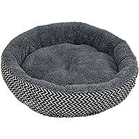 NiceButy - Cojín/Cama para Animales de compañía (Cachorros, Gatos, Perros.) en Color Gris con Peluche en la Parte Interior