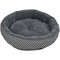 nicebuty cojín caliente cama sofá para mascota cachorro perro gato en invierno cesta peluche para gato cachorro cama de dormir suave de lunares cojín Douillet de alfombra–gris S