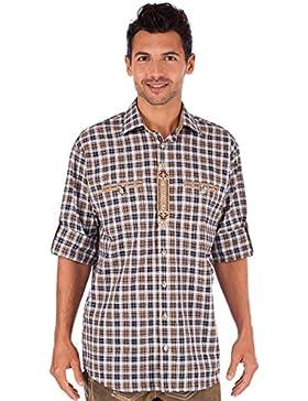 Orbis Trachtenhemd 920004-3310 braun schwarz