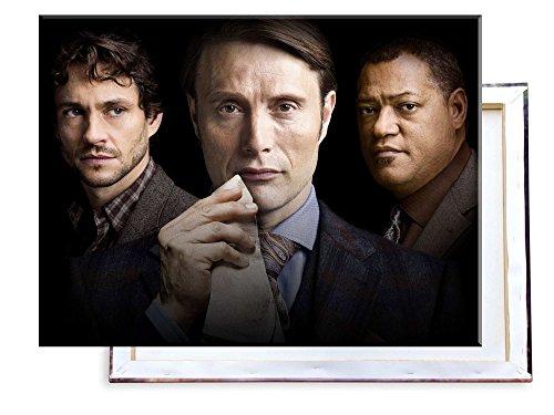 Unified Distribution Hannibal TV Serie Dr. Hannibal Lecter - 80x60 cm - Bilder & Kunstdrucke fertig auf Leinwand aufgespannt und in erstklassiger Druckqualität (Bild-serie)