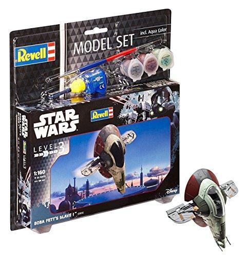 Revell Modellbausatz Star Wars Boba Fett's Slave I im Maßstab 1:160, Level 3, originalgetreue Nachbildung mit vielen Details, Model Set mit Basiszubehör, einfaches Kleben und Bemalen, ()