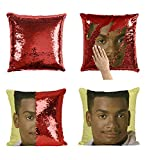 Carlton Banks Fresh Prince P106 Sequin pillow, Cuscino, Sequin Pillowcase, Federa, Two color pillow, Gift For Him Her, Magic Pillow, Mermaid Pillow Cover, Regalo di Natale [With Insert]