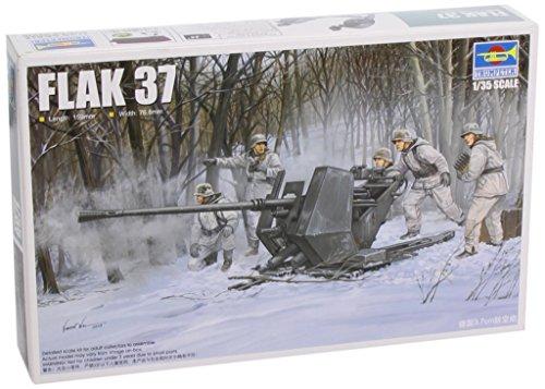 Trumpeter 02310 - modellino da costruire, cannone automatico antiaerei tedesco, flak 37, 3,7 cm