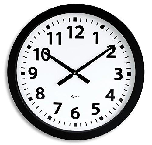 Orium 11012 Horloge géante Quartz Ø60cm Plastique, Noir, 60 x 3 x 60 cm