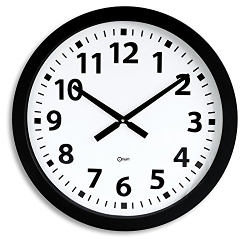 Orium 11012 Horloge géante quartz Plastique Noir 60 x 3 x 60 cm