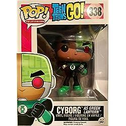 Funko - Figurine Dc Comics - Teen Titans Go ! - Cyborg As Green Lantern Pop 10cm Exclu - 0889698102735