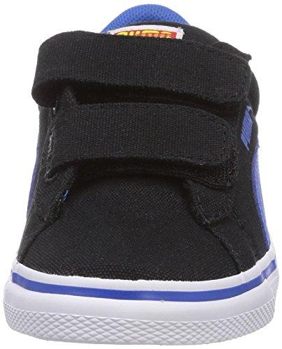 Puma Puma S Vulc CVS Superman V Kids, Sneakers basses mixte enfant Noir - Schwarz (black-strong blue-buttercup 03)