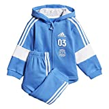 adidas Baby Jogginganzug Logo Hooded Jogger FL True Blue/White 62