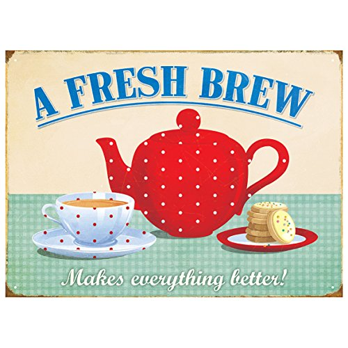 Red Hot Lemon Metal Wall Sign, Multi-Colour, 41 x 30 x 1 cm