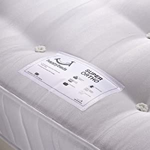 Happy Beds Super Ortho Firm Orthopaedic Spring Mattress Bedroom Furniture Sleep Relax