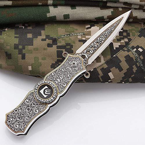 ANLICAR Couteau de Poche Couteau de Camping, Couteau Multifonctionnel, Couteau Pliant pour L'Aventure en Plein air, la randonnée, la Survie en Plein air, Le kit de Survie en Camping