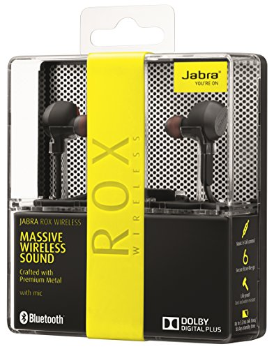 Jabra Rox Wireless Bluetooth In-Ear-Kopfhörer (Stereo-Headset, Bluetooth 4.0, NFC, Freisprechfunktion) schwarz