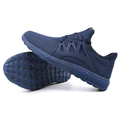 Qansi Hommes Confortable Chaussures De Course Léger Sport Sneakers Bleu Sneakers