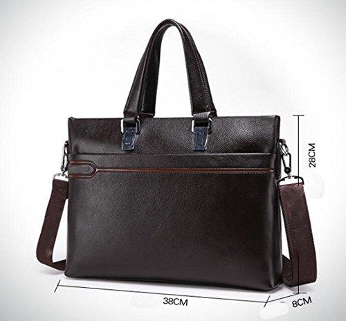 Handtasche Ballen Schulter Messenger Tasche Rot Tasche Aktenkoffer Herren Tasche Brown
