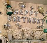 Putwo Luftballons mit Aluminium Happy Birthday Dekoration von festen Geburtstag 25 Stk
