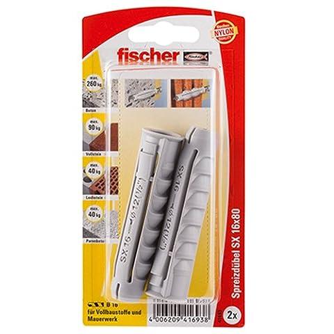 Fischer Dübel SX, 16 x 80 K SB-Karte, 41693