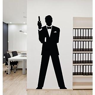 Adesiviamo wall0000450B L Wall sticker, PVC 43 x 100 cm black