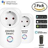 JinvooSmart 2 packungen mit wi - fi - smart - steckdose fernbedienung timer alle stecker - wahl mit google und ifttt versandkostenfrei nach hause weiße