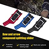 EliteMill Arco Compound Cavo per Slide Cursore Corda Roller Glide Separatore per 3/8 Pollici Cavo Bar - Blu