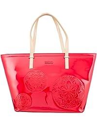 Shoppers y bolsos de hombro para mujer, color Rojo , marca DESIGUAL, modelo Shoppers Y Bolsos De Hombro Para Mujer DESIGUAL 61X50E5 Rojo