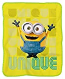 F&T T & F 8054242502121 Plaid Minions, Polyester, Mehrfarbig, Single, 120 x 150 x 1.5 cm