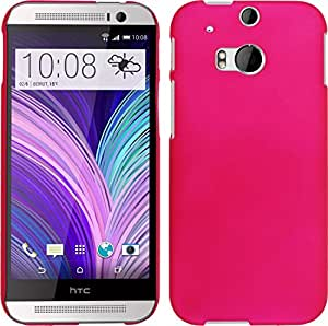 WOW Rubberized Smooth Finish Hard Case for HTC One M8 - Dark Pink