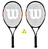 2x Wilson matchpoint XL Tennisracket + 3ballen