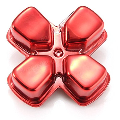 Bullet Buttons for PlayStation 4 PS4 Controller Gold (Red)