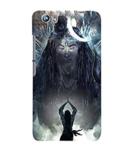 Lord Shiva 3D Hard Polycarbonate Designer Back Case Cover for Micromax Canvas Fire 4 A107